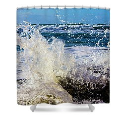 Wave Crash And Splash Shower Curtain