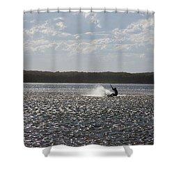 Shower Curtain featuring the photograph Splash At Lake Wollumboola by Miroslava Jurcik