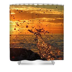 Shower Curtain featuring the photograph Splash by Linda Hollis