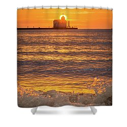 Shower Curtain featuring the photograph Splash Of Light by Bill Pevlor