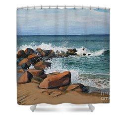 Splash Shower Curtain by Paul Walsh