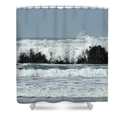 Shower Curtain featuring the photograph Splash by Peggy Hughes