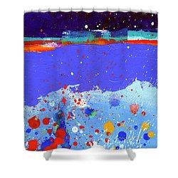Splash#5 Shower Curtain by Jane Davies