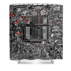 Splashes Of Red Shower Curtain