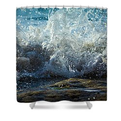 Splashing Wave Shower Curtain
