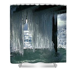 Splash...storm Sunset Shower Curtain