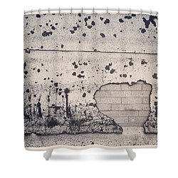Splat #instagood #wall #photooftheday Shower Curtain by Sean Wray