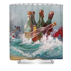 Splattered Wine Shower Curtain