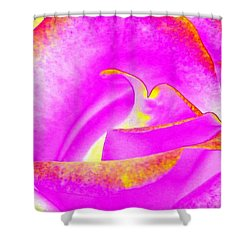 Shower Curtain featuring the mixed media Splendid Rose Abstract by Will Borden