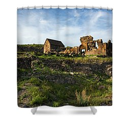 Splendid Ruins Of St. Sargis Monastery In Ushi, Armenia Shower Curtain by Gurgen Bakhshetsyan
