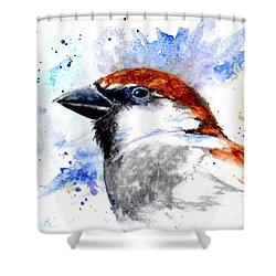 Splendid Sparrow Shower Curtain