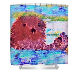 Splish Splash Shower Curtain by David Millenheft