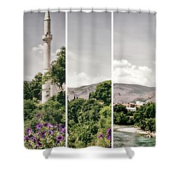 Split Landscape Shower Curtain