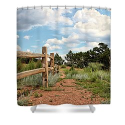 Split Rail Fence Shower Curtain
