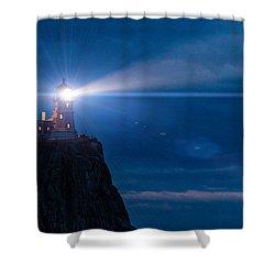 Split Rock Beacon Shower Curtain by Mark Goodman
