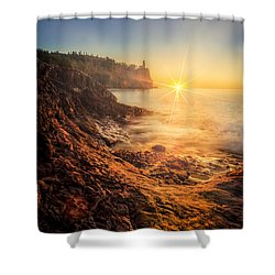 Split Rock Glory Shower Curtain