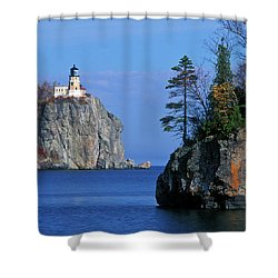 Split Rock Lighthouse - Fs000120 Shower Curtain