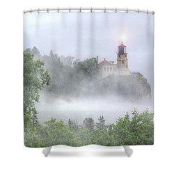 Split Rock Lighthouse Lake Superior North Shore Shower Curtain