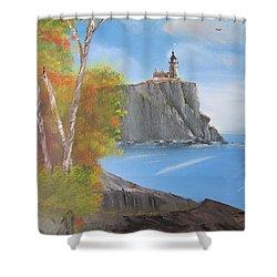 Split Rock Lighthouse Minnesota Shower Curtain by Thomas Janos