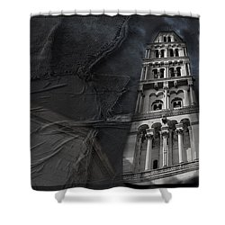 Shower Curtain featuring the photograph Split Story  by Danica Radman