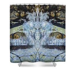 Split The Falls Shower Curtain