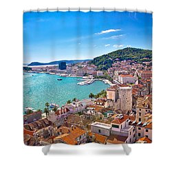 Split Waterfront And Marjan Hill View Shower Curtain