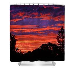Sploingle Sunset Shower Curtain by Mark Blauhoefer