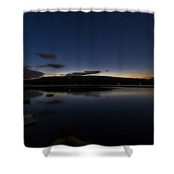 Shower Curtain featuring the photograph Spofford Lake Dawn by Tom Singleton
