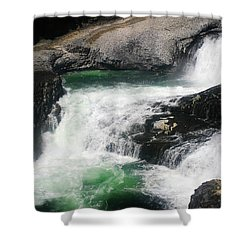 Spokane Water Fall Shower Curtain by Anthony Jones