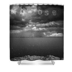 Spoken Shower Curtain by Mark Ross