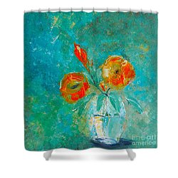 Palette Knife Floral Shower Curtain by Lisa Kaiser