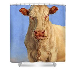 Spooky Cow Shower Curtain