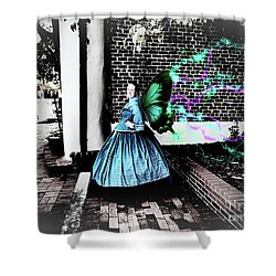 Spooky Historic Butterfly Dahlonega  Shower Curtain
