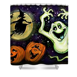 Shower Curtain featuring the painting Spooky by Kevin Middleton