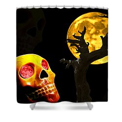 Shower Curtain featuring the photograph Spooky Night by Shane Bechler
