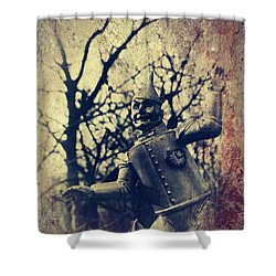 Spooky Tin Man Wizard Of Oz Shower Curtain