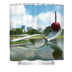 Spoon And Cherry Shower Curtain