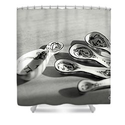 Spoon Family Shower Curtain