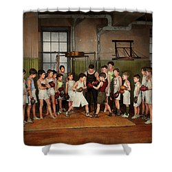 Shower Curtain featuring the photograph Sport - Boxing - Fists Of Fury 1924 by Mike Savad