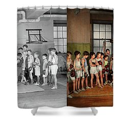 Shower Curtain featuring the photograph Sport - Boxing - Fists Of Fury 1924 - Side By Side by Mike Savad