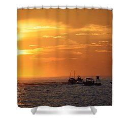 Sportfishermen Head Offshore Shower Curtain