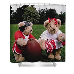 Sporty Teddy Bears Shower Curtain