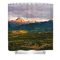 Spotlight On Mt. Sneffels Shower Curtain