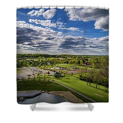Spotlight On The Park Shower Curtain