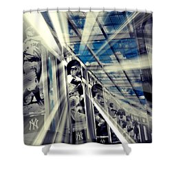 Spotlight On The Yankee Clipper II Shower Curtain by Aurelio Zucco