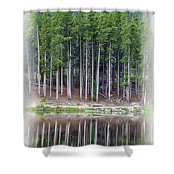 Sprague Lake 03 Shower Curtain by Pamela Critchlow