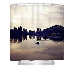 Sprague Lake At Sunset Shower Curtain