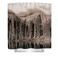 Shower Curtain featuring the photograph Sprague Lake Morning by Thomas Bomstad