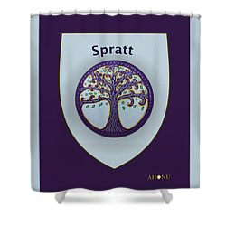 Spratt Family Crest Shower Curtain