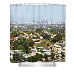 Sprawling Homes To Downtown Los Angeles Shower Curtain